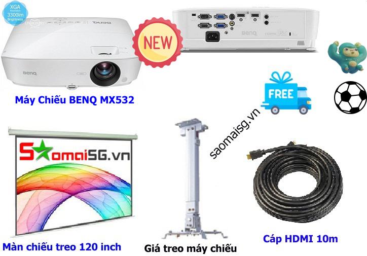 Máy chiếu BenQ MX532 trọn bộ