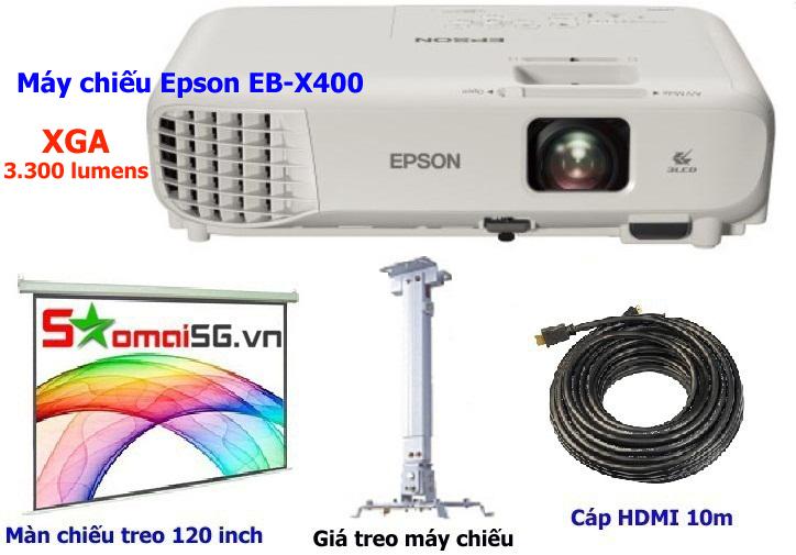 Máy chiếu Epson EB X400 trọn bộ