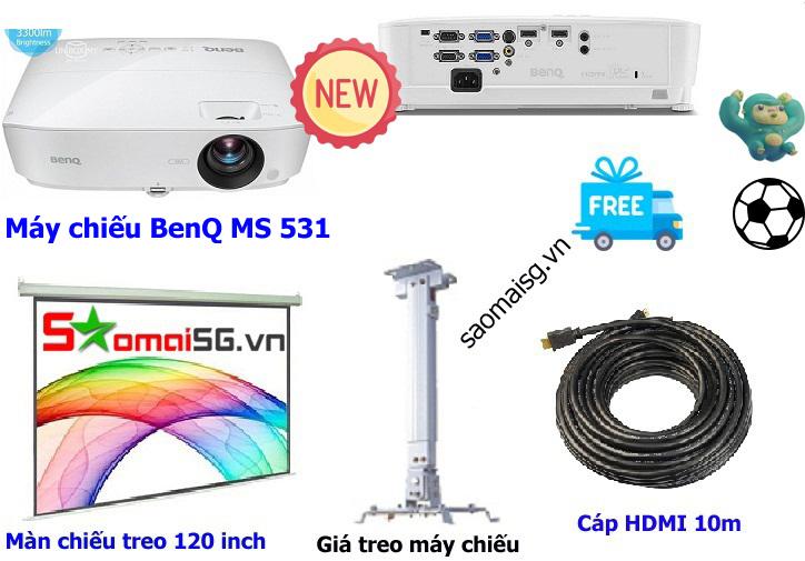 Máy chiếu BenQ MS531 trọn bộ