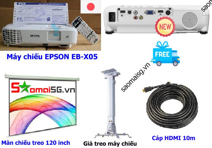 Máy chiếu EPSON EB X05 trọn bộ