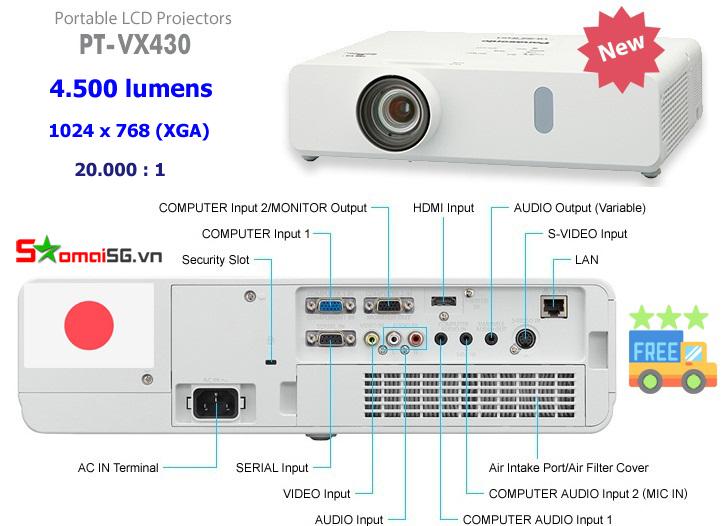 Máy chiếu Panasonic PT-VX430